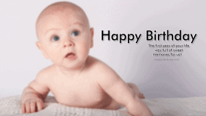 Sweet Birthday Wishes For  Baby