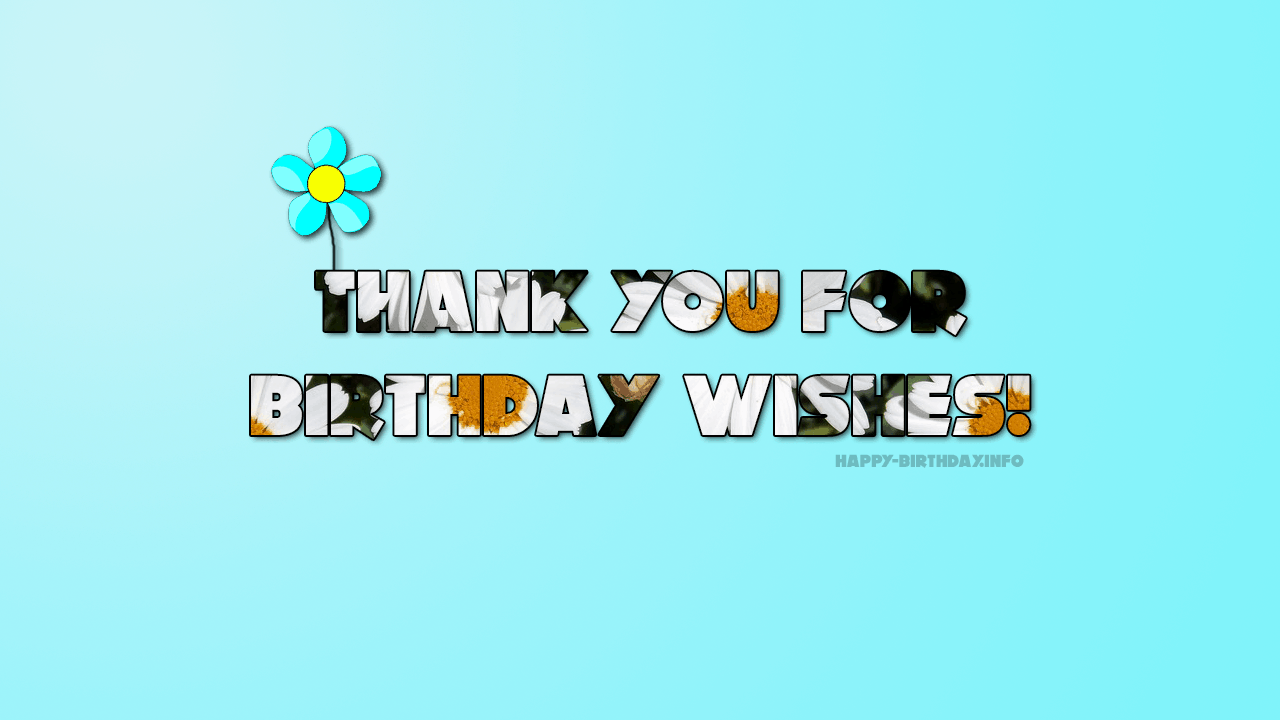 Thank You For Birthday Wishes.Thank You Messages Notes For Birthday Wishes On Facebook