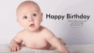 First Happy Birthday