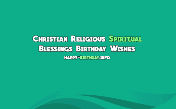Christian Religious Spiritual Blessings Birthday Wishes