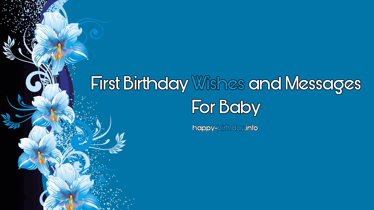 Happy 1st Birthday Wishes Messages For Baby Boy Girl