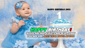 First Happy Birthday Day Wishes
