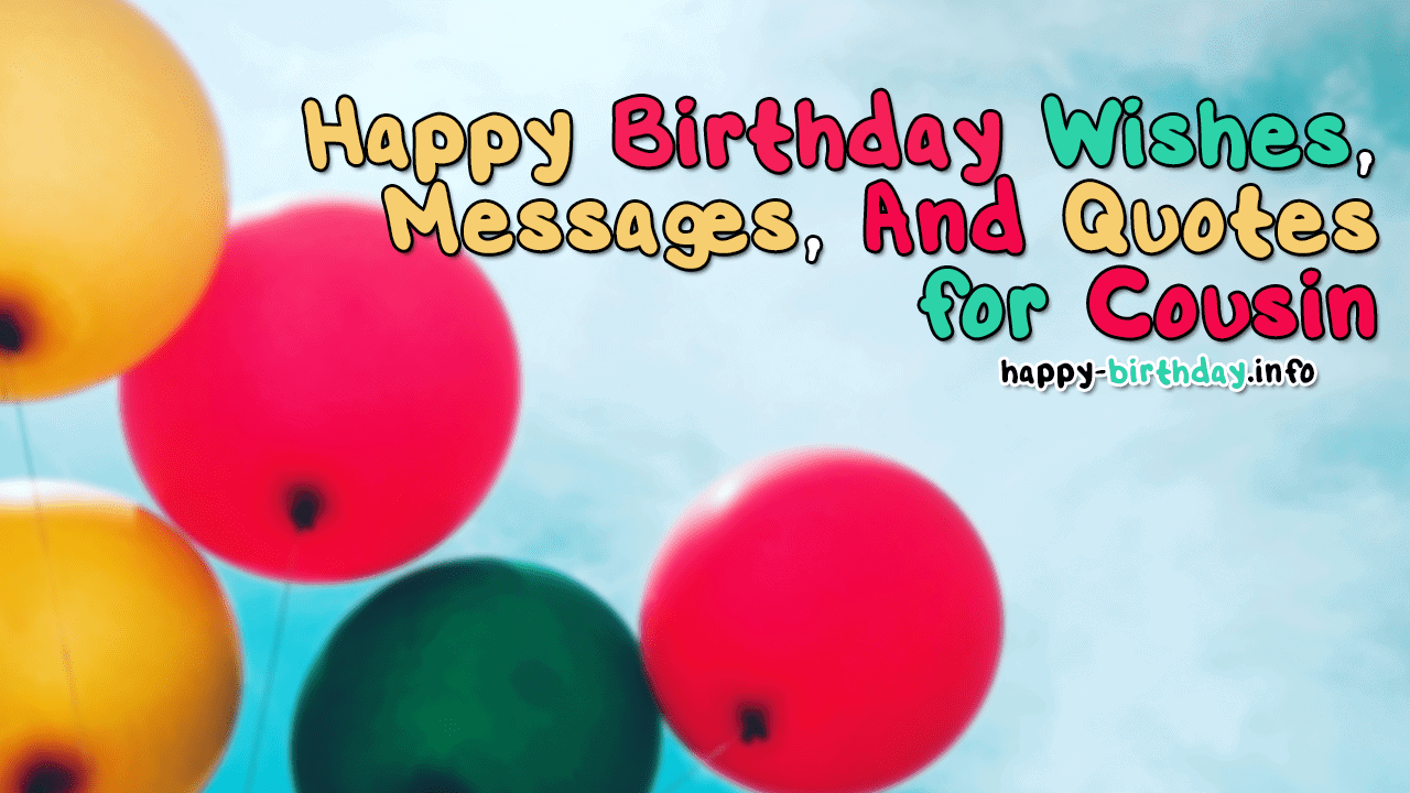 Stupendous Happy Birthday Wishes Messages And Quotes For Cousin Funny Birthday Cards Online Alyptdamsfinfo