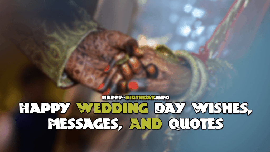 Happy Wedding Day Wishes, Messages, And Quotes