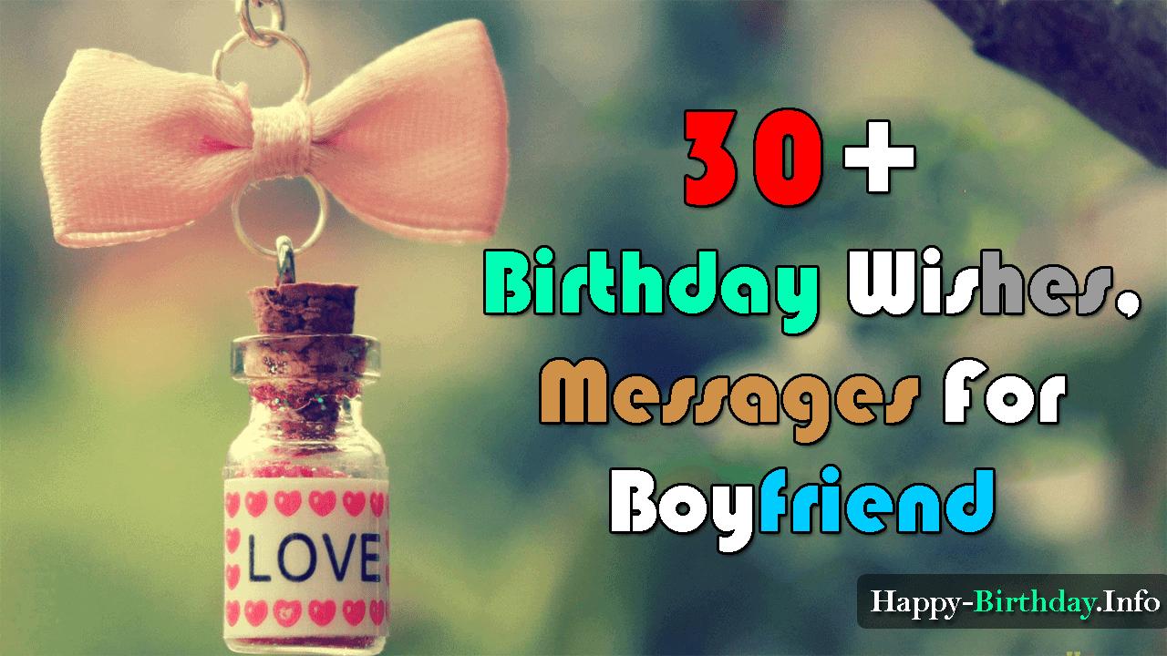 50 Birthday Wishes Messages For Boyfriend Happy Birthday