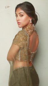 Anu Emmanuel Sexy Photoshoot in Transparent Saree