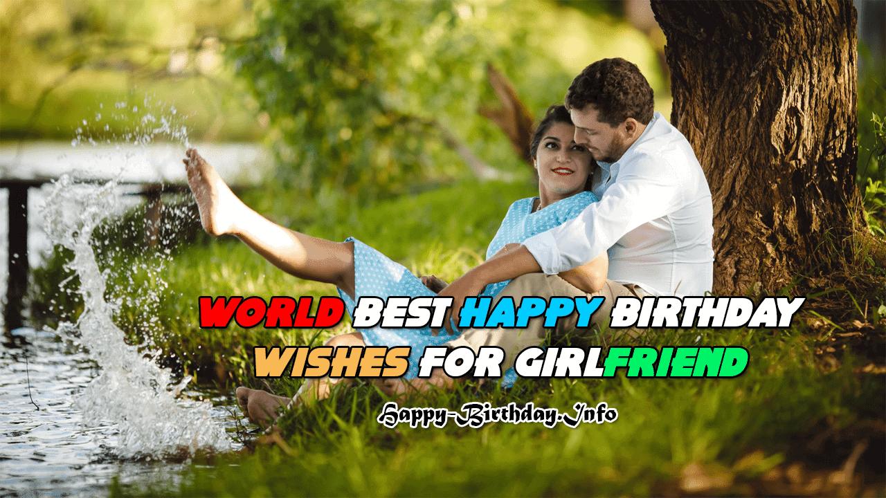 Awesome World Best Happy Birthday Wishes For Girlfriend 2020 Personalised Birthday Cards Xaembasilily Jamesorg